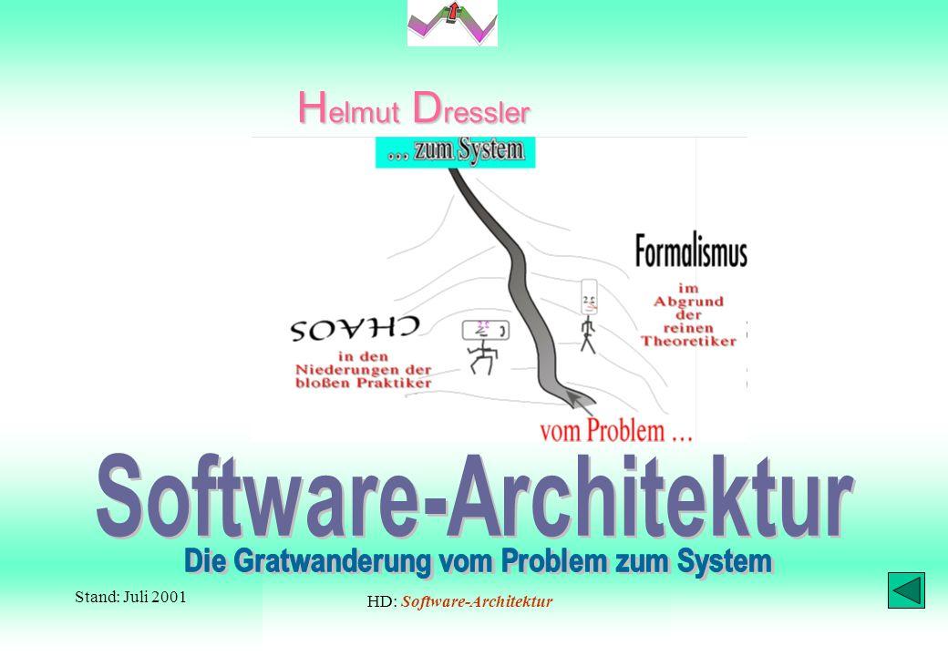 1H. DreßlerSoftware-Architektur betr. diese Präsentation zur Damit Sie diese Darstellung tatsächlich Schritt für Schritt – na hoffentlich: – »genießen