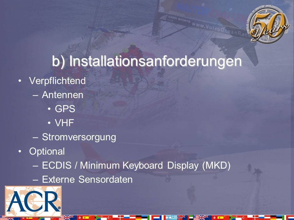 Basiskonfiguration Static Ship Data Eindeutige Kenn-Nr.