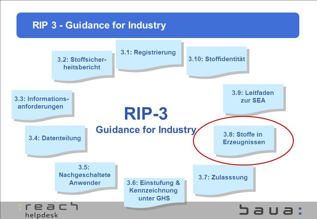 3.1: Registrierung 3.2: Stoffsicher- heitsbericht 3.2: Stoffsicher- heitsbericht 3.3: Informations- anforderungen 3.3: Informations- anforderungen 3.1