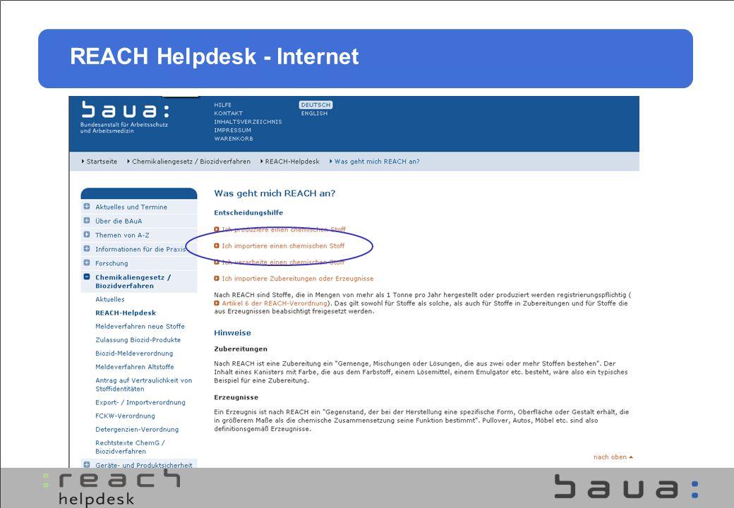 REACH Helpdesk - Internet