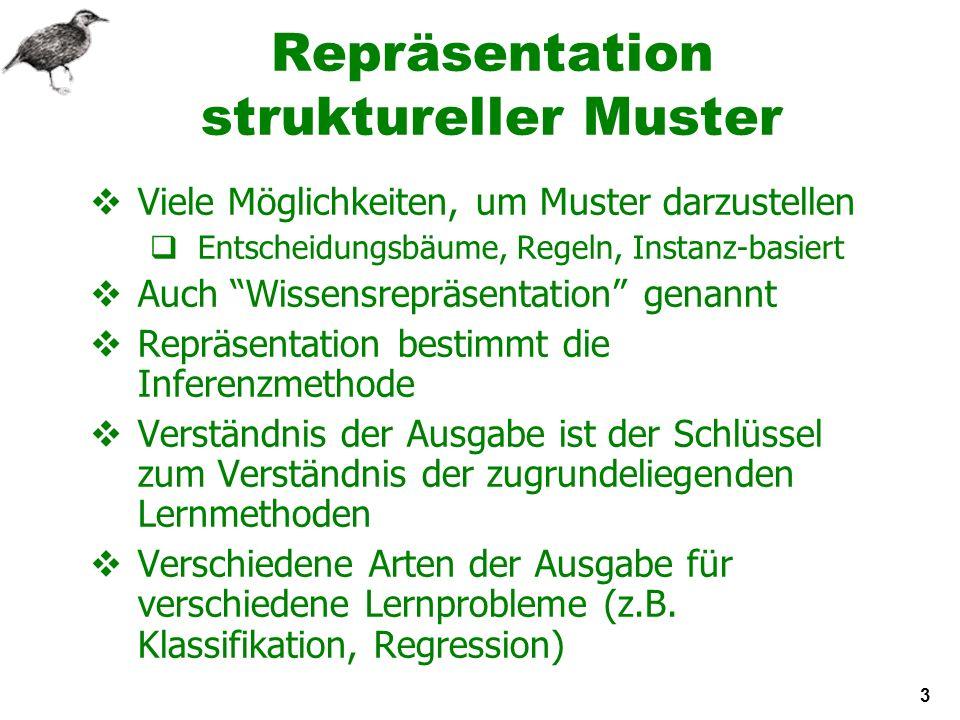 4 Entscheidungstabellen Rudimentärste Form der Ausgabe- Repräsentation: Benutzt dasselbe Format wie die Eingabe.