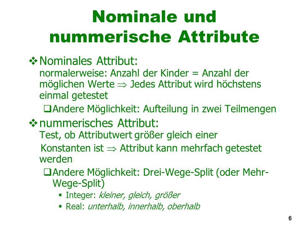 37 Rechteckige Generalisierungen Nächster-Nachbar-Regel wird außerhalb der Rechtecke benutzt Rechtecke sind Regeln.