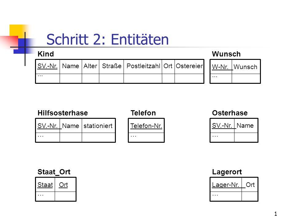 1 Kind SV.-Nr.NameAlterStraßePostleitzahlOrtOstereier... Staat_Ort StaatOrt... Telefon Telefon-Nr.... Wunsch W-Nr.Wunsch... Osterhase SV.-Nr.Name... H
