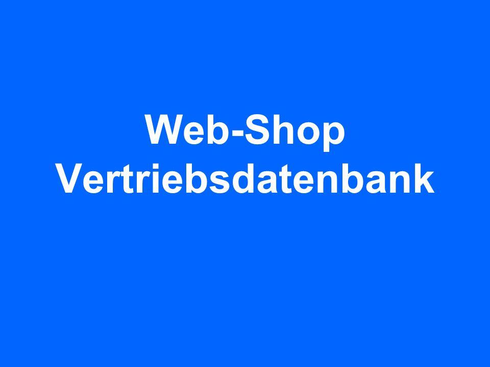Web-Shop Vertriebsdatenbank