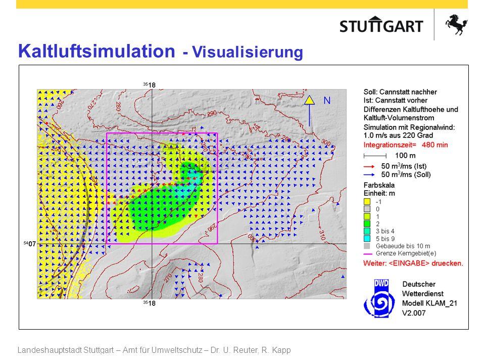 Landeshauptstadt Stuttgart – Amt für Umweltschutz – Dr. U. Reuter, R. Kapp Dr. U Reuter Kaltluftsimulation - Visualisierung