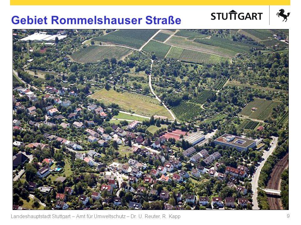 Landeshauptstadt Stuttgart – Amt für Umweltschutz – Dr. U. Reuter, R. Kapp Dr. U Reuter 9 Gebiet Rommelshauser Straße