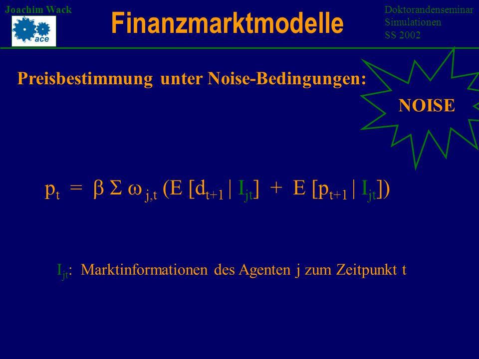 Joachim WackDoktorandenseminar Simulationen SS 2002 2. Die Simulationsplattform SWARM