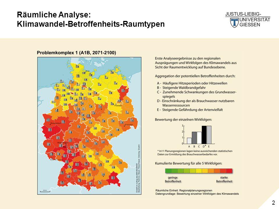 2 Räumliche Analyse: Klimawandel-Betroffenheits-Raumtypen