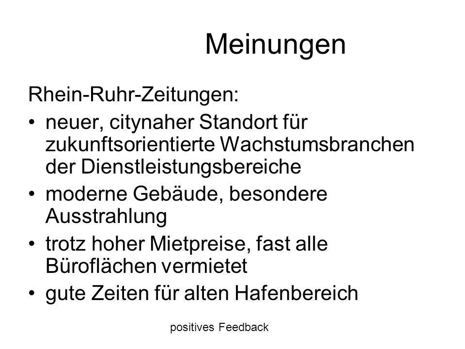 Meinungen Rhein-Ruhr-Zeitungen: neuer, citynaher Standort für zukunftsorientierte Wachstumsbranchen der Dienstleistungsbereiche moderne Gebäude, beson