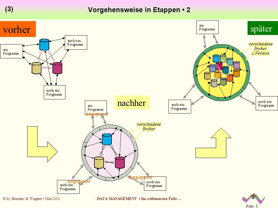 Folie: 9 © by Dressler & Wagner Mai 2002DATA MANAGEMENT Im schlimmsten Falle … Data Dictionary: aus ALT mach NEU.