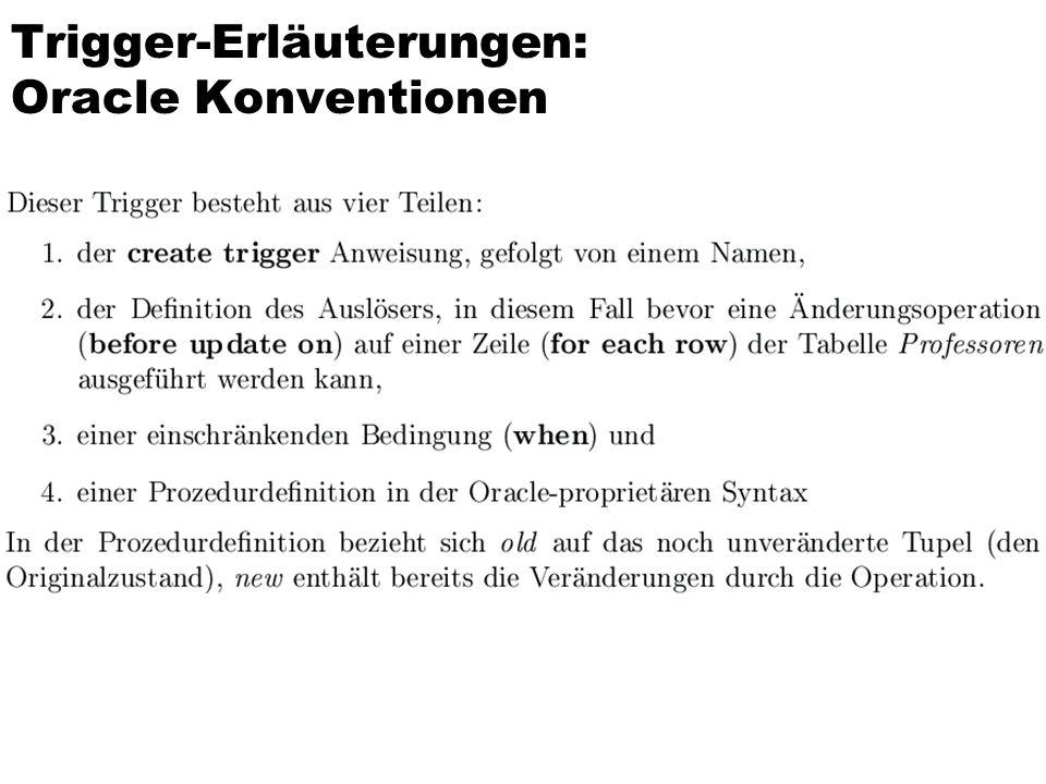 Gleicher Trigger in DB2 / SQL:1999- Syntax