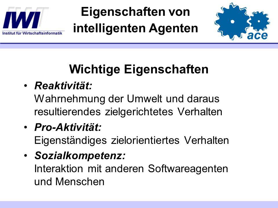 Architekturen für Systeme intelligenter Agenten I Abstrakte Ansätze zur Beschreibung von Agentensystemen Parameter von Agentensystemen rein reaktive Agenten Agenten mit differenzierter Wahrnehmung Agenten mit interner Zustandsmaschine