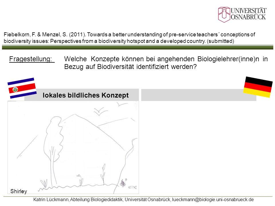 Katrin Lückmann, Abteilung Biologiedidaktik, Universität Osnabrück, lueckmann@biologie.uni-osnabrueck.de lokales bildliches Konzept Shirley Fragestell