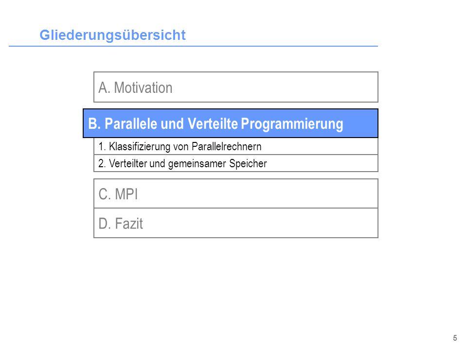 16 Gliederungsübersicht A.Motivation B. Parallele und Verteilte Programmierung D.