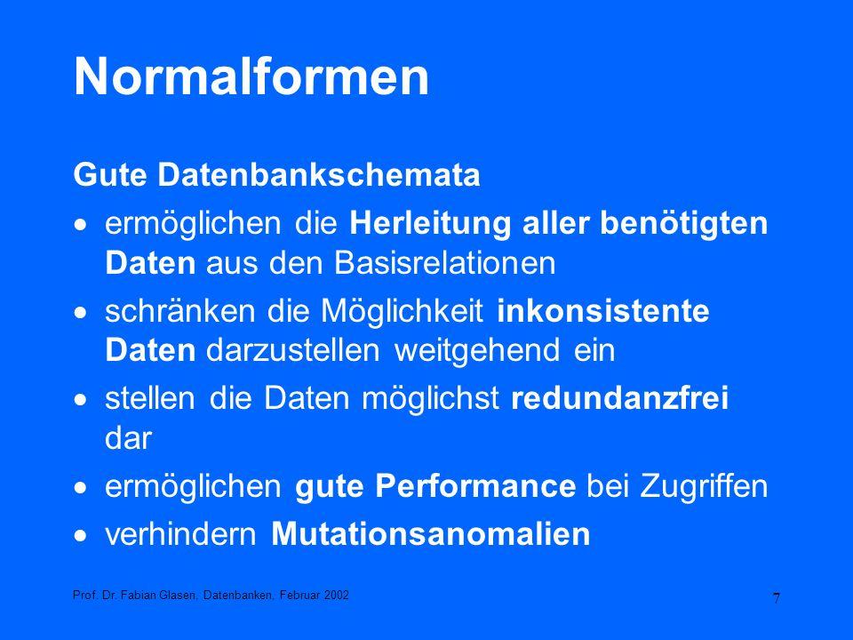 78 Sichten (Views) CHECK OPTION CREATE VIEW kunden_freiburg AS SELECT kundennr, name, strasse, plz,ort FROM kunde WHERE ort = Freiburg WITH CHECK OPTION; Ein Update wie vorher geschildert, wird dadurch zurück gewiesen.