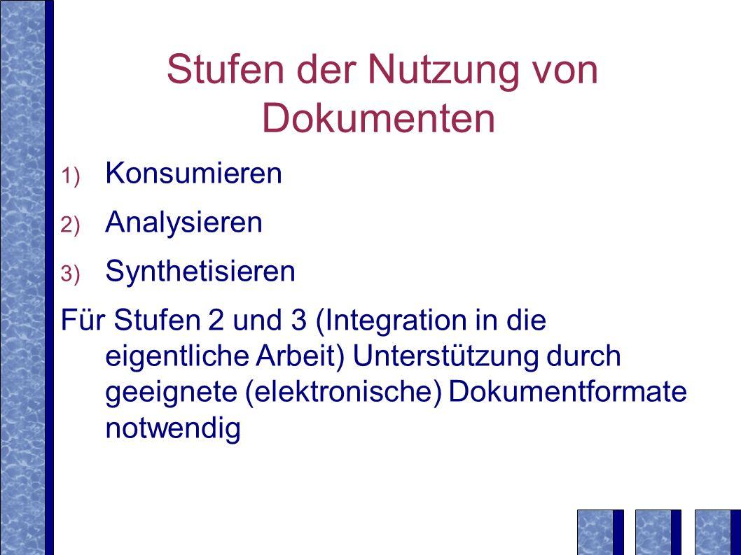 Ausblick Effektivität: Evaluierung von Volltext- Retrieval (Projekt FOCUS) Effizienz: Entwicklung von Zugriffsstrukturen, Anfrageoptimierung Ausdrucksstärke: Erweiterung in Richtung XQuery (Restrukturierung, Aggregierung) (Projekt CLASSIX)