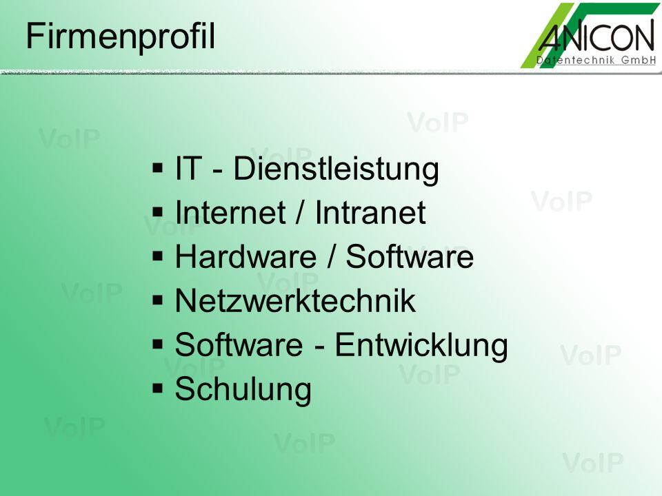 ASTERISK* The Open Source PBX Features & Funktionen CTI (Computer Telephony Integration) Features: TAPI Interface AGI - Asterisk Gateway Interface Grafischer Call Manager Outbound Call Spooling Predictive Dialer TCP/IP Management Interface