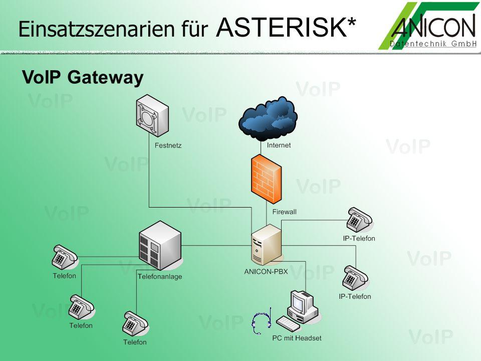 Einsatzszenarien für ASTERISK* VoIP Gateway