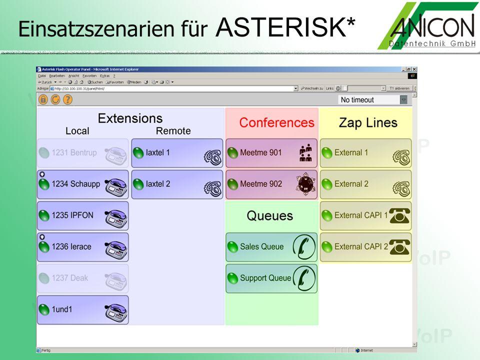 Einsatzszenarien für ASTERISK*