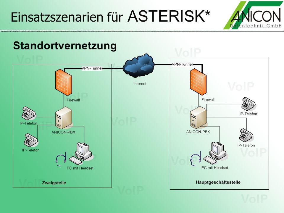 Einsatzszenarien für ASTERISK* Standortvernetzung
