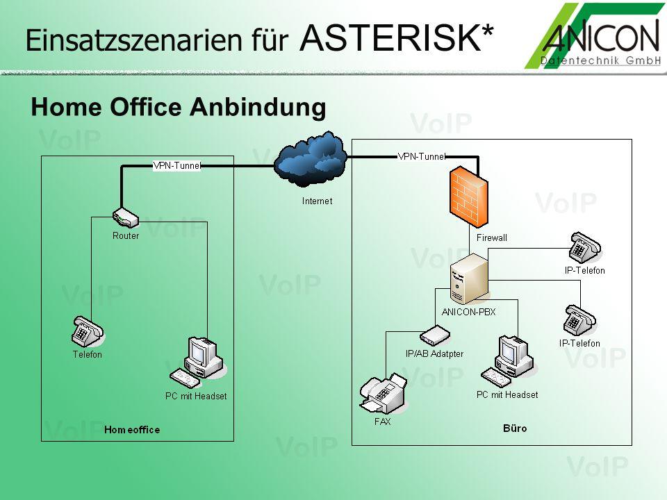 Einsatzszenarien für ASTERISK* Home Office Anbindung