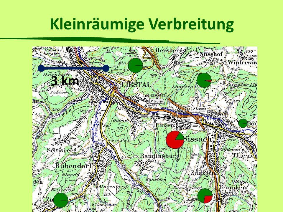 Kleinräumige Verbreitung 3 km