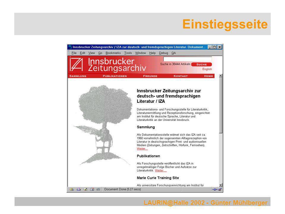 LAURIN@Halle 2002 - Günter Mühlberger Verwandte Begriffe suchen
