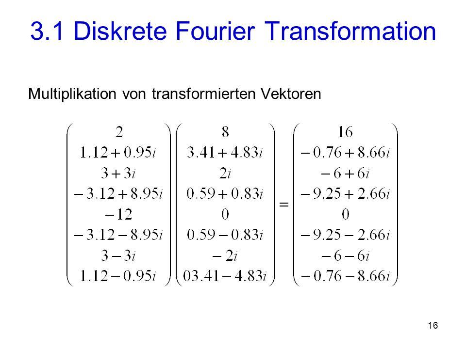 17 Einträge der inversen Fouriermatrix: für alle i, j {0, …, n-1}.