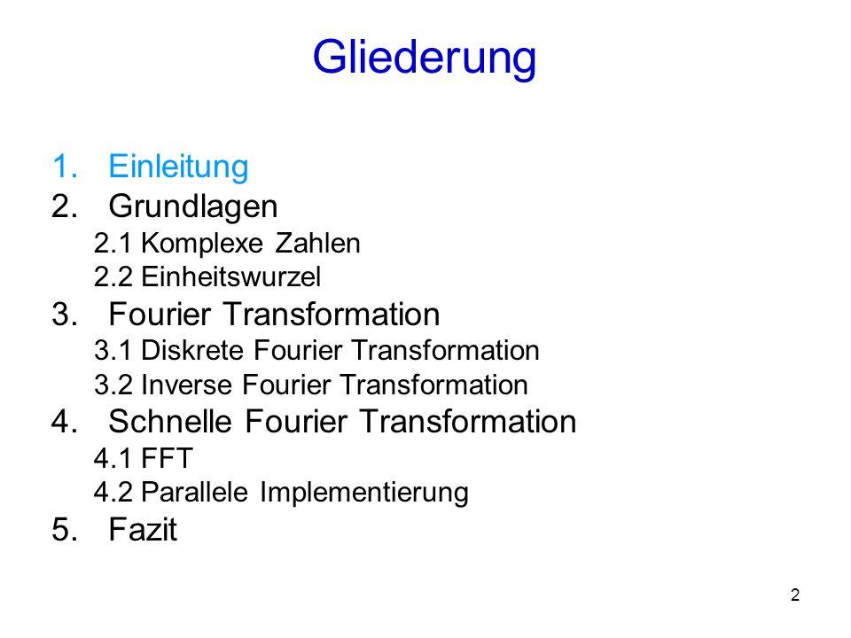3 Anwendungsgebiete –Signalverarbeitung –Bildverarbeitung –Grundlegende mathematische Berechnungen, wie z.B.