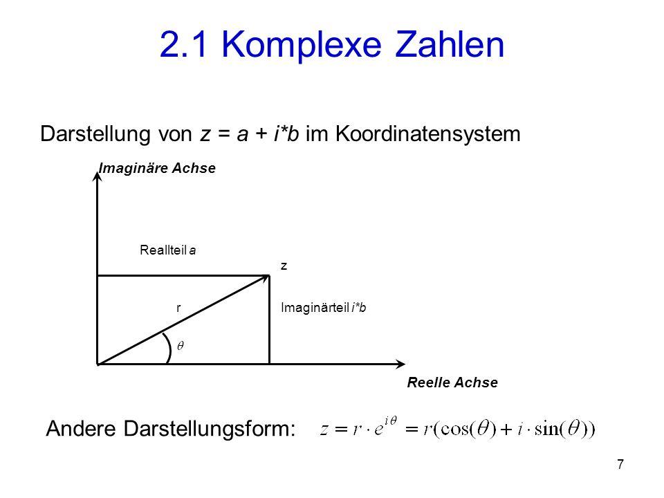 8 Sei C der Körper der komplexen Zahlen.