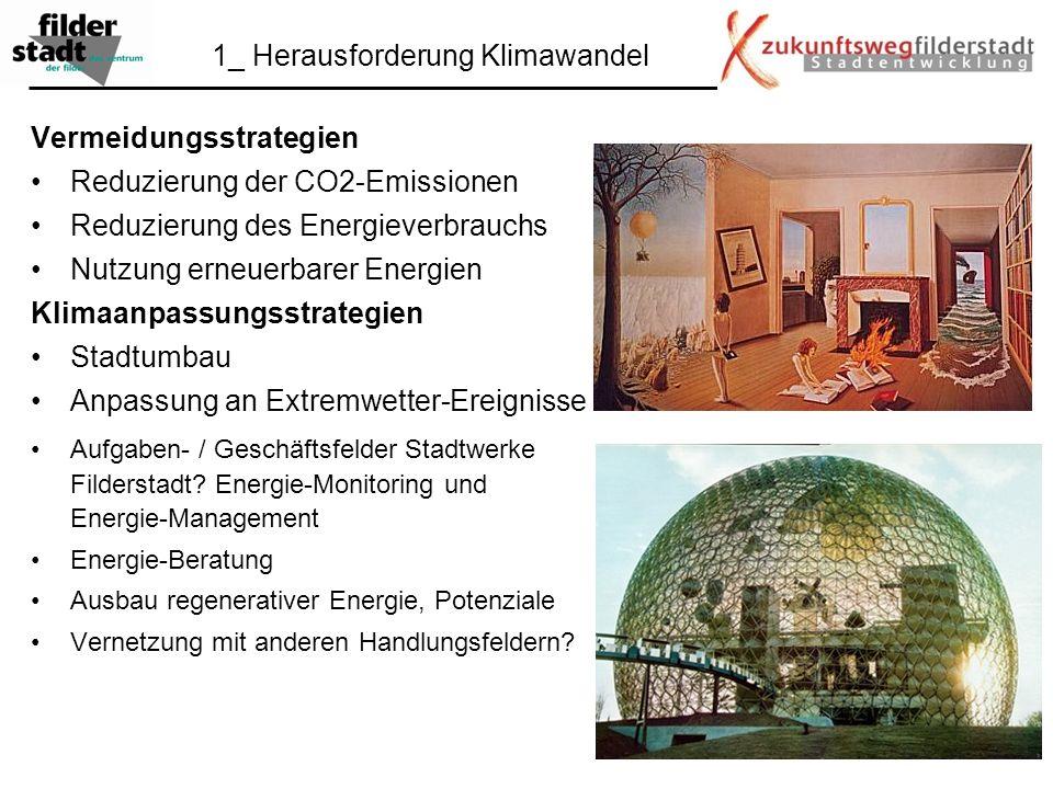 Vermeidungsstrategien Reduzierung der CO2-Emissionen Reduzierung des Energieverbrauchs Nutzung erneuerbarer Energien Klimaanpassungsstrategien Stadtum