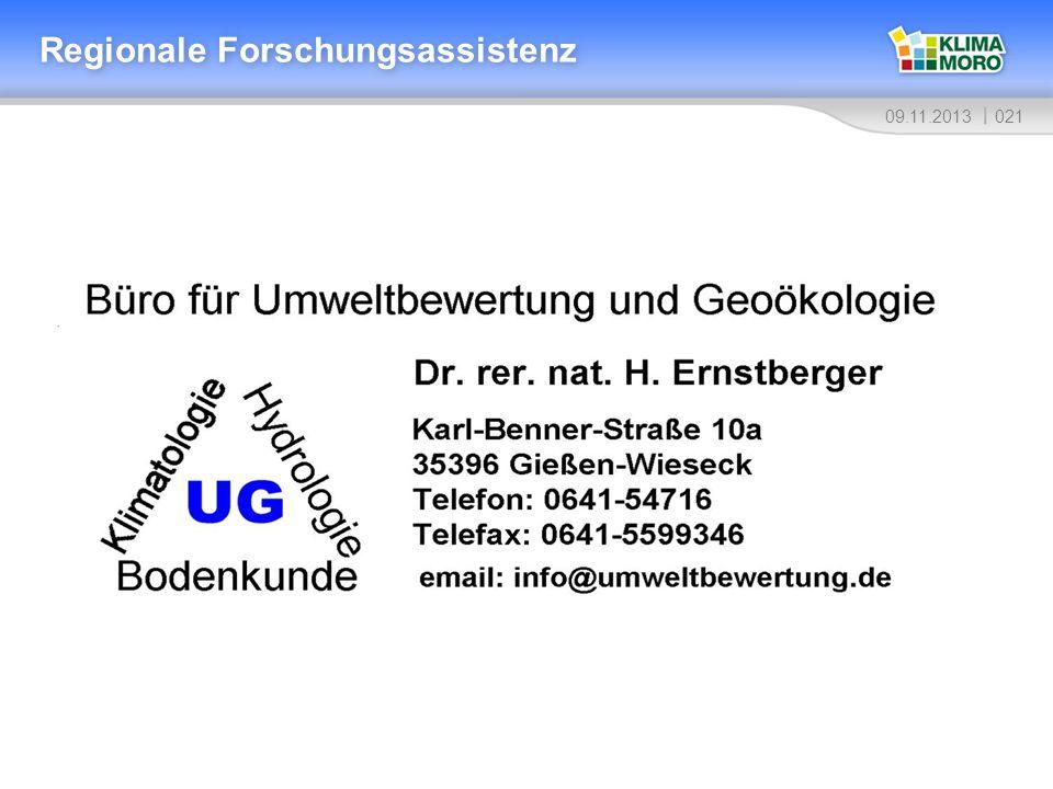 02109.11.2013 Regionale Forschungsassistenz