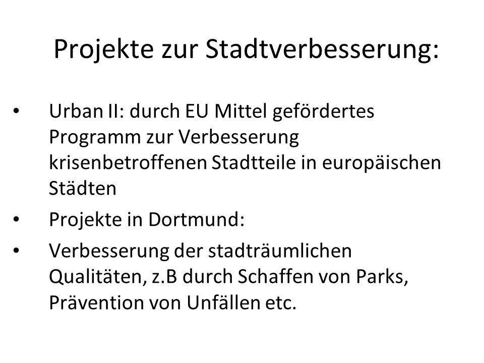 Projekte zur Stadtverbesserung: Urban II: durch EU Mittel gefördertes Programm zur Verbesserung krisenbetroffenen Stadtteile in europäischen Städten P