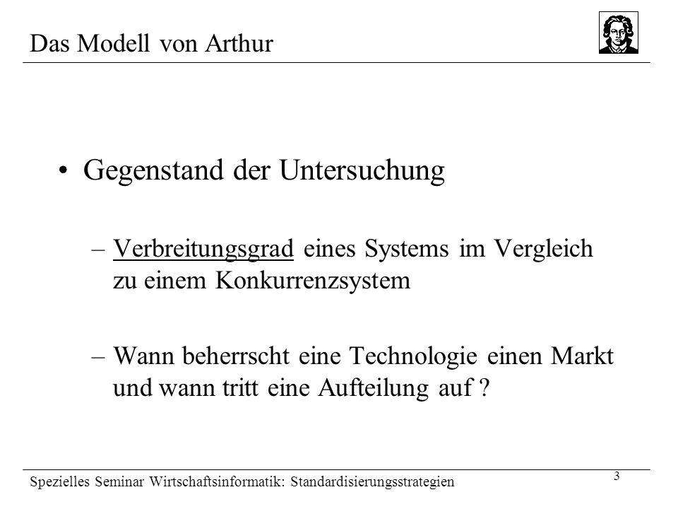 3 Spezielles Seminar Wirtschaftsinformatik: Standardisierungsstrategien Gegenstand der Untersuchung –Verbreitungsgrad eines Systems im Vergleich zu ei