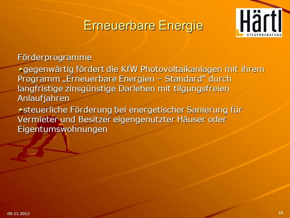 Förderprogramme gegenwärtig fördert die KfW Photovoltaikanlagen mit ihrem Programm Erneuerbare Energien – Standard durch langfristige zinsgünstige Dar