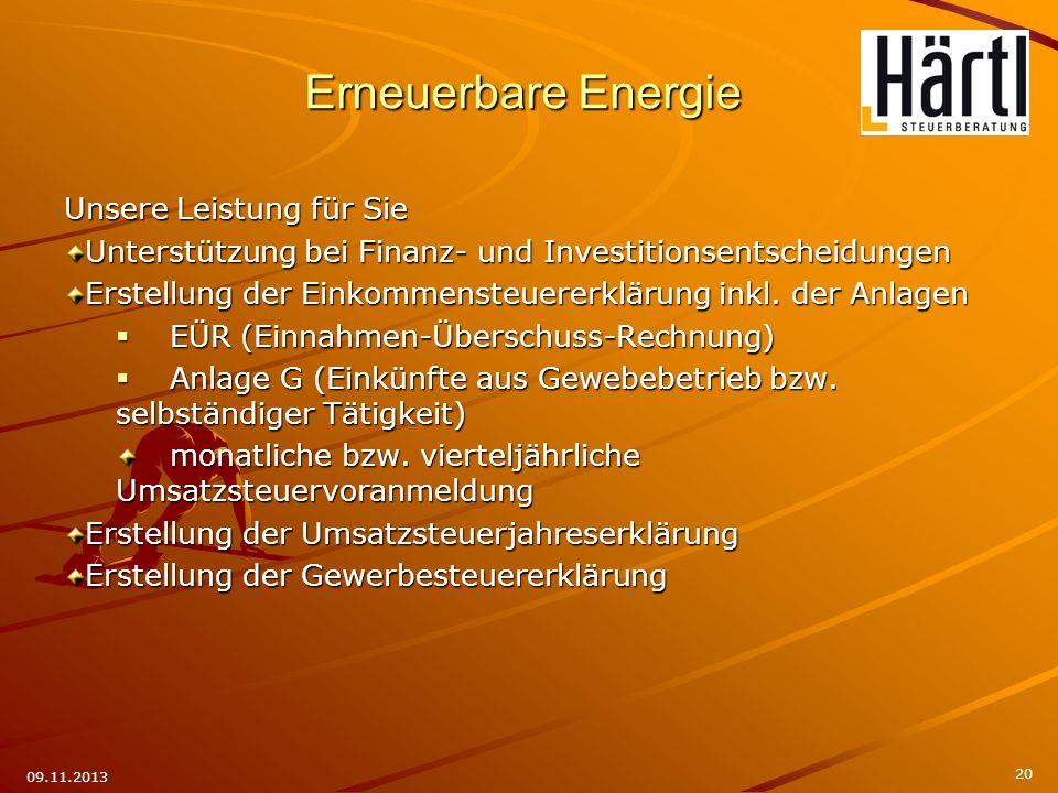 Unsere Leistung für Sie Unterstützung bei Finanz- und Investitionsentscheidungen Erstellung der Einkommensteuererklärung inkl. der Anlagen EÜR (Einnah