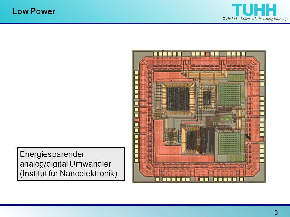 5 Low Power Energiesparender analog/digital Umwandler (Institut für Nanoelektronik)