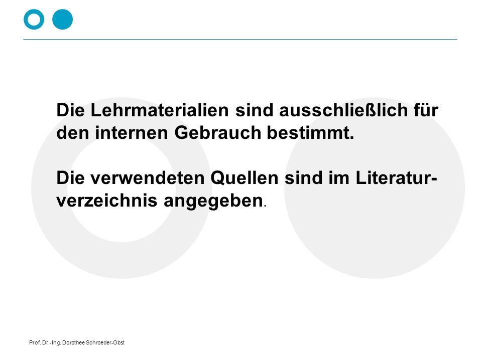 Prof. Dr.-Ing. Dorothee Schroeder-Obst Eisenwerkstoffe