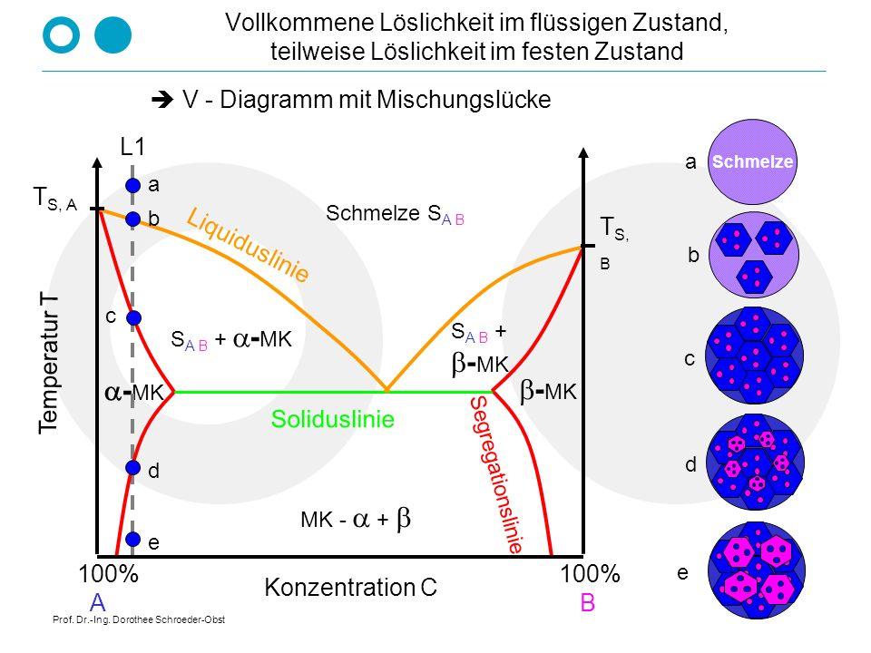 Prof. Dr.-Ing. Dorothee Schroeder-Obst Zustandsdiagramm Blei - Zinn