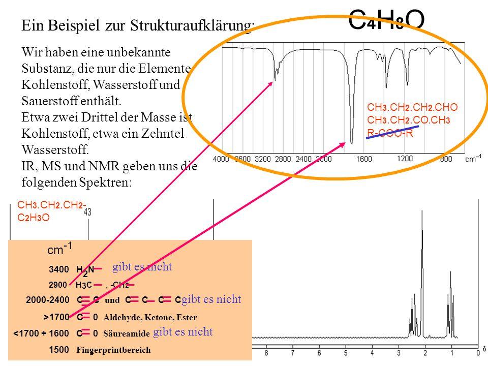 Wir haben eine unbekannte Substanz, die nur die Elemente Kohlenstoff, Wasserstoff und Sauerstoff enthält. Etwa zwei Drittel der Masse ist Kohlenstoff,