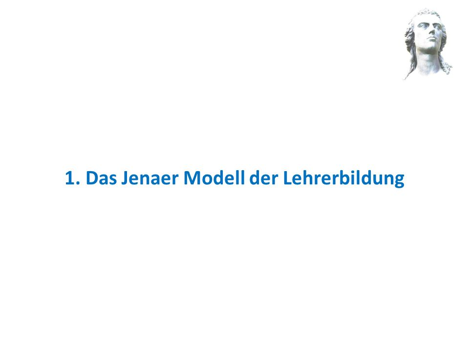 Das Jenaer Modell hat zwei Grundlagen Es geht auf das Leitbild der Lehrerbildungsstandards der KMK zurück Neues Lehrer bildungs gesetz Neue Staatsexamensordnung 4 1.Unterrichten2.Erziehen 3.Beurteilen4.Innovieren Will Lütgert: Fortbildung Didaktik Es fußt auf den Regelungen des neuen Thüringer Lehrerbildungsgesetzes