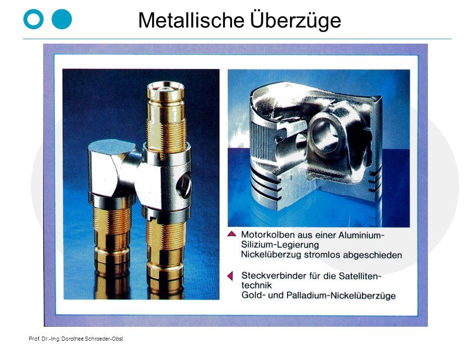 Prof. Dr.-Ing. Dorothee Schroeder-Obst Metallische Überzüge