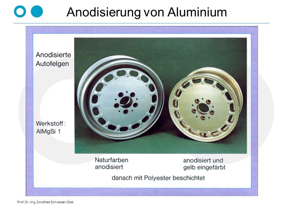 Prof. Dr.-Ing. Dorothee Schroeder-Obst Anodisierung von Aluminium