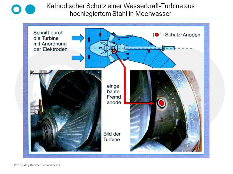 Prof. Dr.-Ing. Dorothee Schroeder-Obst Kathodischer Schutz einer Wasserkraft-Turbine aus hochlegiertem Stahl in Meerwasser