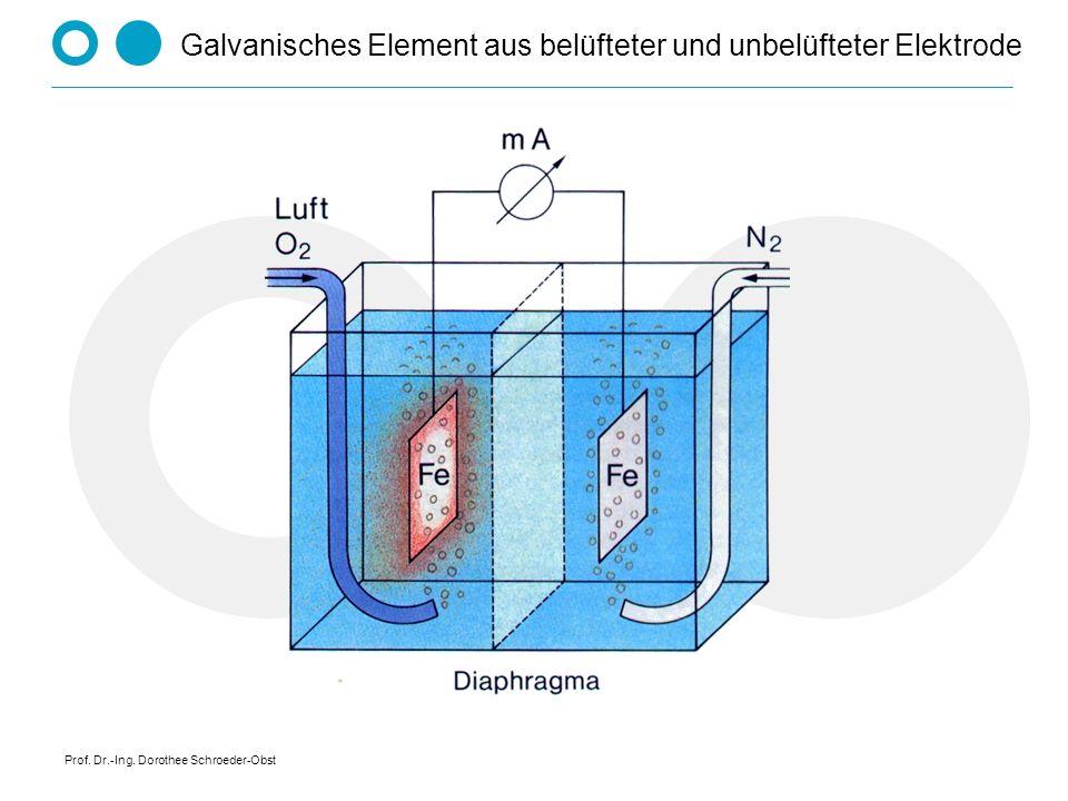 Prof. Dr.-Ing. Dorothee Schroeder-Obst Galvanisches Element aus belüfteter und unbelüfteter Elektrode