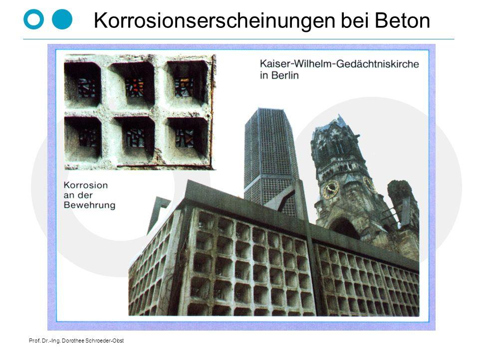 Prof. Dr.-Ing. Dorothee Schroeder-Obst Korrosionserscheinungen bei Beton
