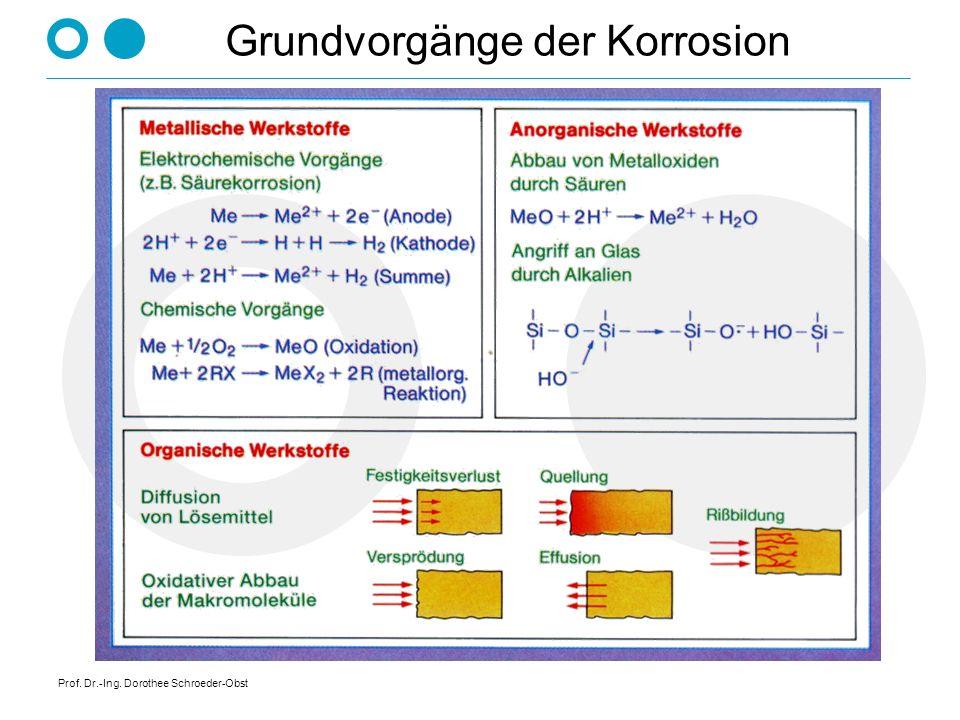 Prof. Dr.-Ing. Dorothee Schroeder-Obst Grundvorgänge der Korrosion