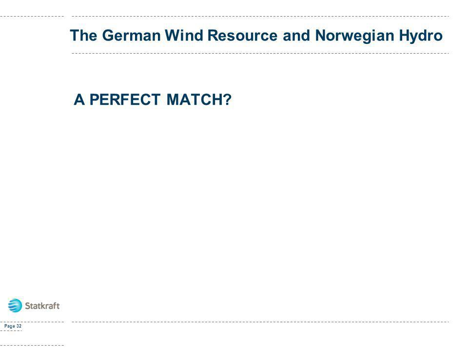 Page 32 The German Wind Resource and Norwegian Hydro A PERFECT MATCH?