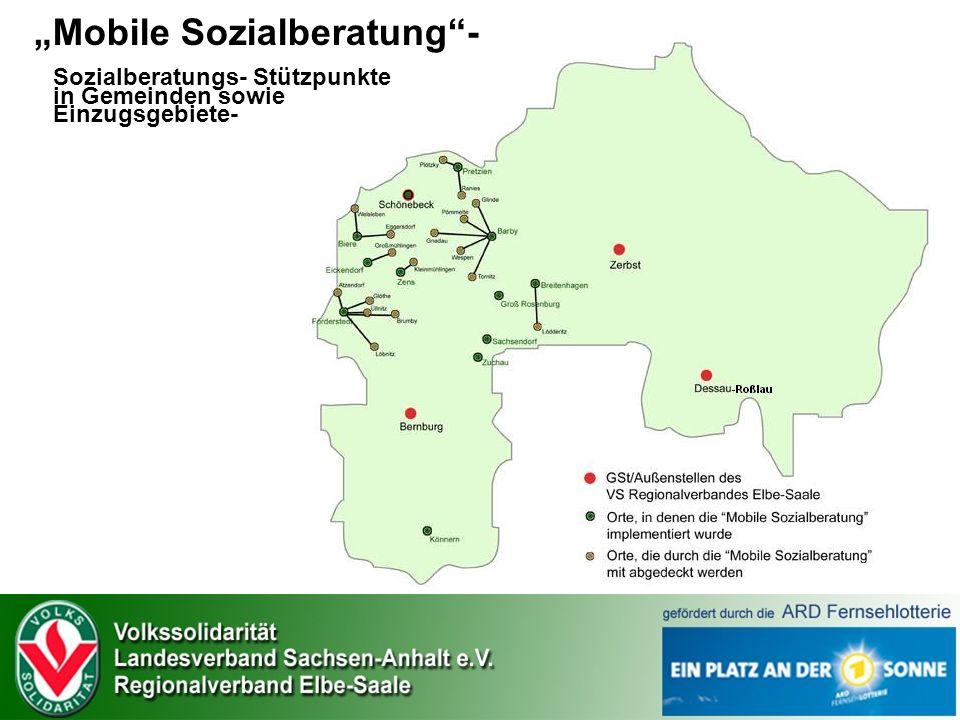 Mobile Sozialberatung- Sozialberatungs- Stützpunkte in Gemeinden sowie Einzugsgebiete-