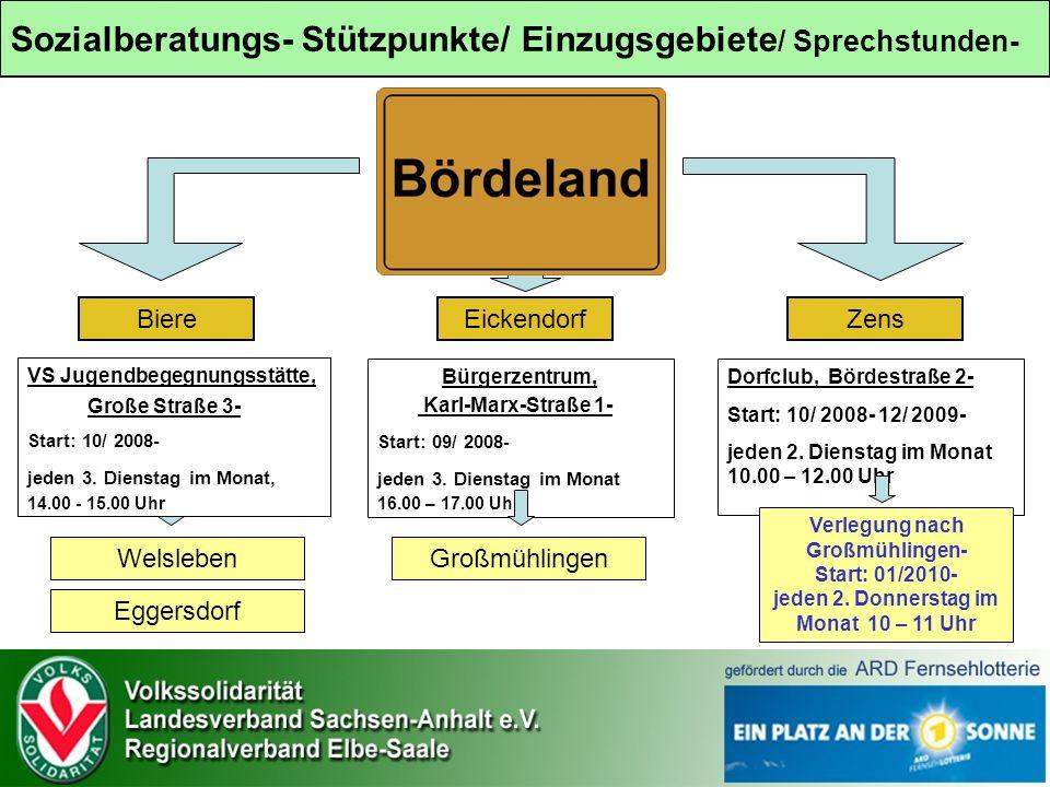 VS Jugendbegegnungsstätte, Große Straße 3- Start: 10/ 2008- jeden 3.